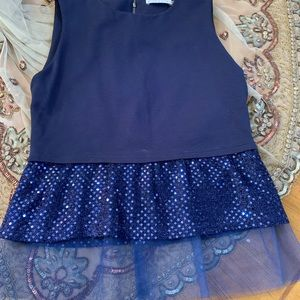 Alice and Olivia navy blue top